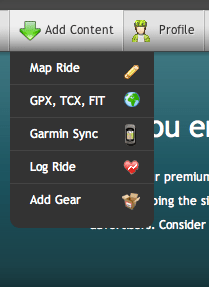 RWGPS Mapping Menu