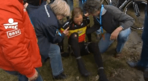 Boonen crashed out of Flanders
