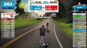 Riding and training with zwift