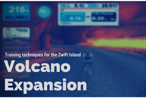 Training on the Zwift Island Volcano Expansion