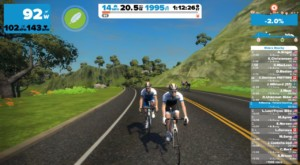 Group training with zwift
